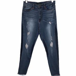 KanCan Distressed Frayed Hem Skinny Jeans Sz30
